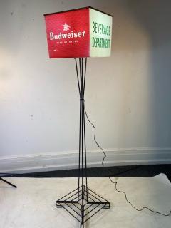 MID CENTURY BUDWEISER ADVERTISING CUBE FLOOR LAMP - 1688195