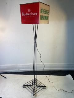 MID CENTURY BUDWEISER ADVERTISING CUBE FLOOR LAMP - 1688200