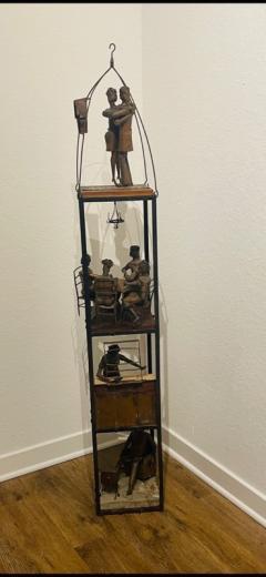 MID CENTURY MODERN BRUTALIST TOWER DIORAMA SCULPTURE - 1843509