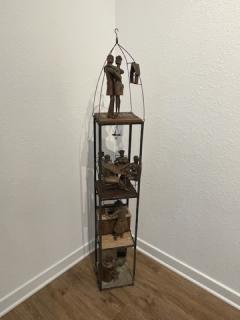 MID CENTURY MODERN BRUTALIST TOWER DIORAMA SCULPTURE - 1845032