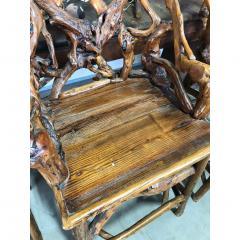 MID CENTURY ORGANIC MODERN WOOD BAR STOOLS SET OF 4 - 1046569