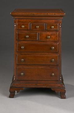 MINIATURE CHEST OF DRAWERS PENNSYLVANIA DATED 1829 - 1338009