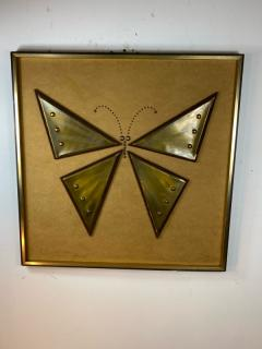 MIXED METALS BRUTALIST BUTTERFLY WALL ART - 1208885
