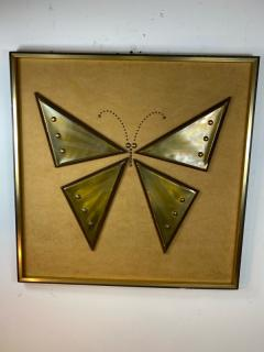 MIXED METALS BRUTALIST BUTTERFLY WALL ART - 1208886