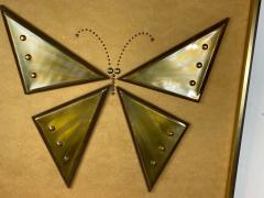 MIXED METALS BRUTALIST BUTTERFLY WALL ART - 1208887