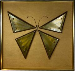 MIXED METALS BRUTALIST BUTTERFLY WALL ART - 1210543
