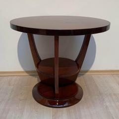 ML Guyot Round Art Deco Side Table Palisander Signed French Polish France circa 1925 - 1488050