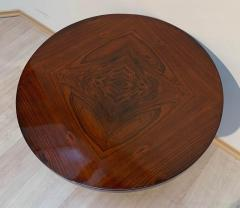ML Guyot Round Art Deco Side Table Palisander Signed French Polish France circa 1925 - 1488055