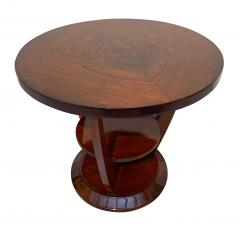 ML Guyot Round Art Deco Side Table Palisander Signed French Polish France circa 1925 - 1497972