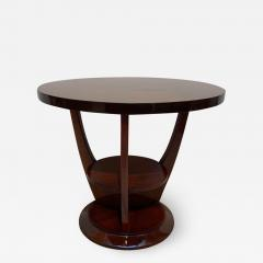 ML Guyot Round Art Deco Side Table Palisander Signed French Polish France circa 1925 - 1500319