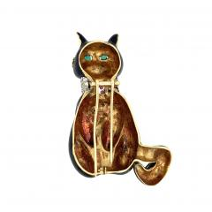 MOBA Seymour Moss Moba Black Cat Lucky 13 Brooch - 1118374