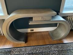 MODERN CURVED SILVER LEAF CONSOLE WITH DRAWER - 1912513