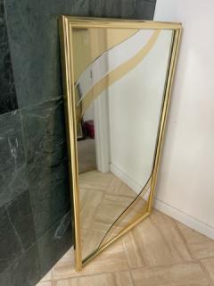 MODERN GOLD METAL DESIGN RECTANGULAR MIRROR - 2122996