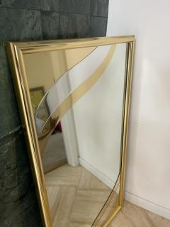 MODERN GOLD METAL DESIGN RECTANGULAR MIRROR - 2123000