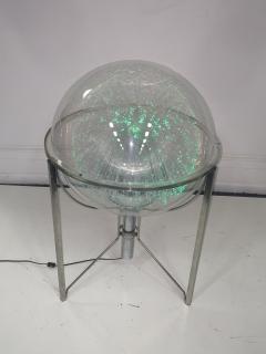 MODERN ROTATING COLOR SPECTRUM FIBER OPTIC PLEXIGLASS SPHERE LAMP - 1061804