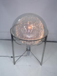 MODERN ROTATING COLOR SPECTRUM FIBER OPTIC PLEXIGLASS SPHERE LAMP - 1061805