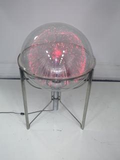 MODERN ROTATING COLOR SPECTRUM FIBER OPTIC PLEXIGLASS SPHERE LAMP - 1061806