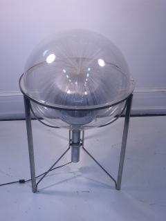 MODERN ROTATING COLOR SPECTRUM FIBER OPTIC PLEXIGLASS SPHERE LAMP - 1061809