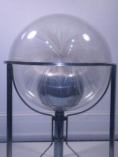 MODERN ROTATING COLOR SPECTRUM FIBER OPTIC PLEXIGLASS SPHERE LAMP - 1061810