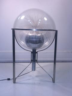 MODERN ROTATING COLOR SPECTRUM FIBER OPTIC PLEXIGLASS SPHERE LAMP - 1061811