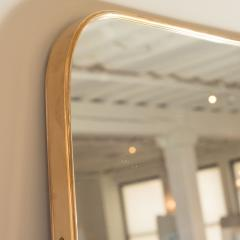 MODERNIST BRASS FRAMED MIRROR - 1845251
