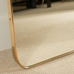 MODERNIST BRASS FRAMED MIRROR - 1845258