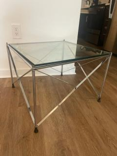 MODERNIST PAIR OF MOLECULAR FORM CHROME AND GLASS TABLES - 1947687