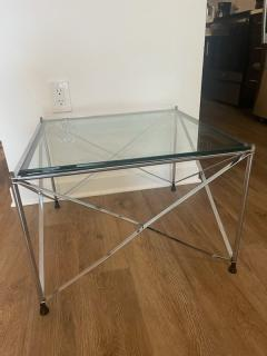 MODERNIST PAIR OF MOLECULAR FORM CHROME AND GLASS TABLES - 1947688