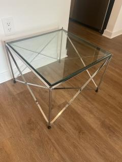 MODERNIST PAIR OF MOLECULAR FORM CHROME AND GLASS TABLES - 1947694