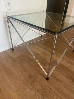 MODERNIST PAIR OF MOLECULAR FORM CHROME AND GLASS TABLES - 1947698