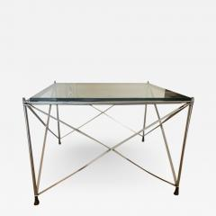 MODERNIST PAIR OF MOLECULAR FORM CHROME AND GLASS TABLES - 1953477