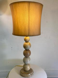MODERNIST PAIR OF SWIRLED MARBLE BALL LAMPS - 1798251