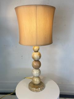 MODERNIST PAIR OF SWIRLED MARBLE BALL LAMPS - 1798253