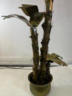 MONUMENTAL ITALIAN BRASS PALM TREE IN POT SCULPTURE - 1436271