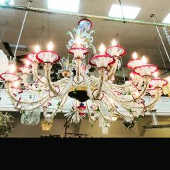 MONUMENTAL MULTI COLORED MURANO GLASS CHANDELIER - 1258266