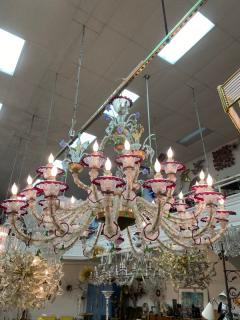 MONUMENTAL MULTI COLORED MURANO GLASS CHANDELIER - 1258267