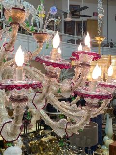 MONUMENTAL MULTI COLORED MURANO GLASS CHANDELIER - 1258269