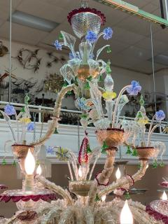 MONUMENTAL MULTI COLORED MURANO GLASS CHANDELIER - 1258270