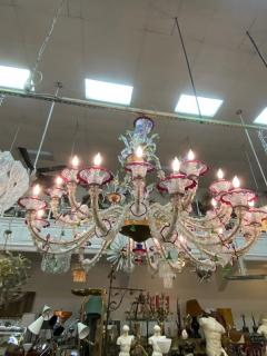 MONUMENTAL MULTI COLORED MURANO GLASS CHANDELIER - 1258271