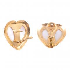 Mabe Pearl Heart Earrings - 1978360