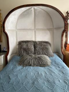 Macassar Ebony Canopy Bed - 1837477