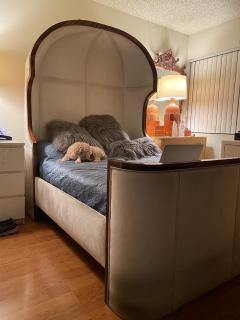 Macassar Ebony Canopy Bed - 1837479