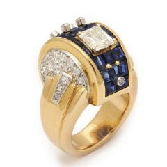 Machine Aesthetic Sapphire and Diamond Ring - 253826