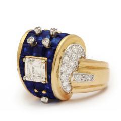 Machine Aesthetic Sapphire and Diamond Ring - 253827