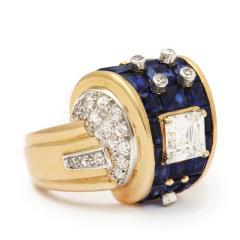 Machine Aesthetic Sapphire and Diamond Ring - 253828