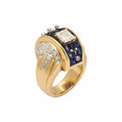 Machine Aesthetic Sapphire and Diamond Ring - 254259