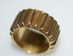 Machine Age Gold Cog Ring - 1124284