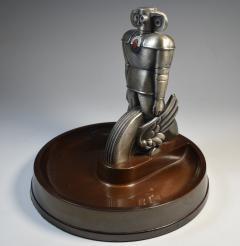 Machine Age Robot Westinghouse Air Brakes Promotional Ashtray 1930 - 1808964