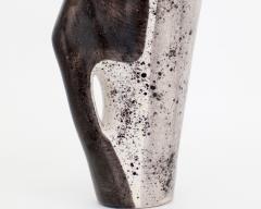 Mado Jolain Mado Jolain French Ceramic Vase with Abstract Drawings Black White and Grey - 2056031