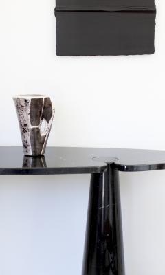Mado Jolain Mado Jolain French Ceramic Vase with Abstract Drawings Black White and Grey - 2056034